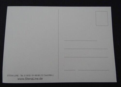 Autocollant Stena Line Fähren Ferries Suède Élan Carte Postale