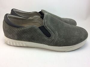 00c5f4833d346d CIRCUS by Sam Edelman Cruz Grey Perforated Suede Slip On Sneaker ...