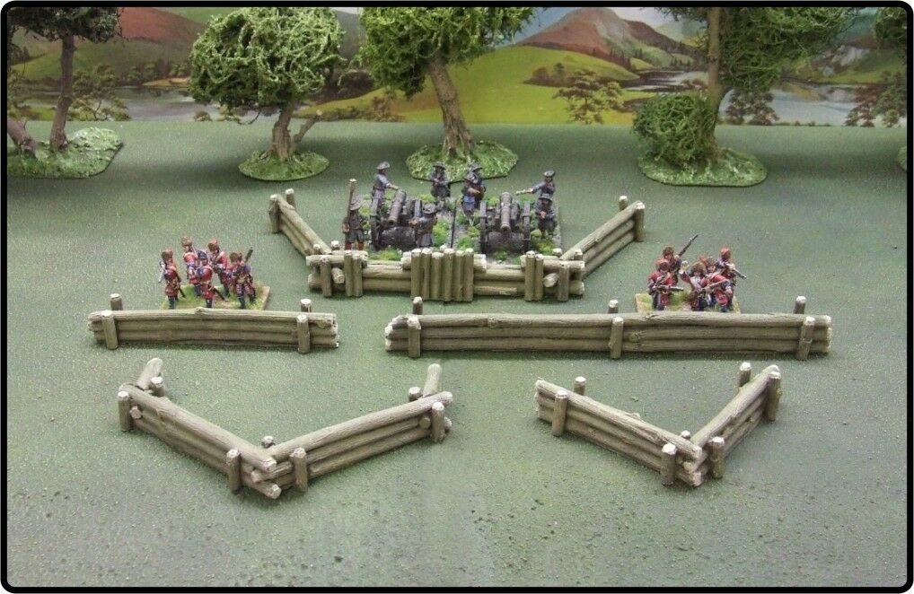 28MM  LOG DEFENCE WORKS - PAINTED TO COLLECTOR'S STANDARD