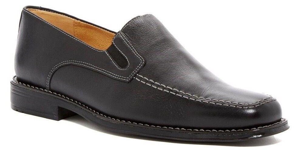 Sandro Moscoloni Men's Jeffrey Loafer Leather BLACK Size 11D