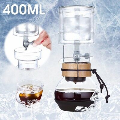 400ml Dutch Cold Drip Coffee Maker Ice Water Drip Glass Brew Machine Office Home