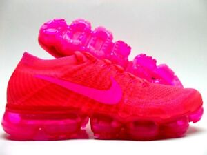 the latest 557e0 9f85e Details about NIKE AIR VAPORMAX FLYKNIT HYPER PUNCH/PINK BLAST SIZE WOMEN'S  11.5 [849557-604]