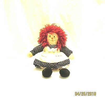 """13"""" Raggedy Ann Doll Springwater Cookie Company Soft Body Factories And Mines"""