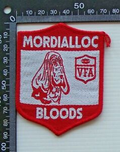 RARE VINTAGE VFA MORDIALLOC BLOODS EMBROIDERED WOVEN CLOTH VFL SEW-ON BADGE