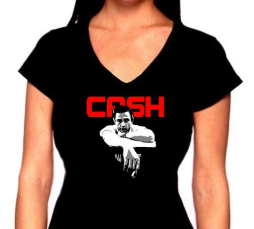 """Tank or V-neck Johnny Cash /""""Cash/"""" T-Shirt"""