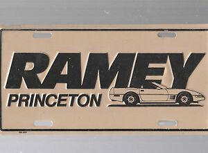 Ramey Auto Dealership License Plate Car Tag Princeton West Virginia