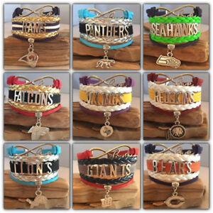 Nfl Football Team Sports Fan Shop Infinity Bracelet Ebay