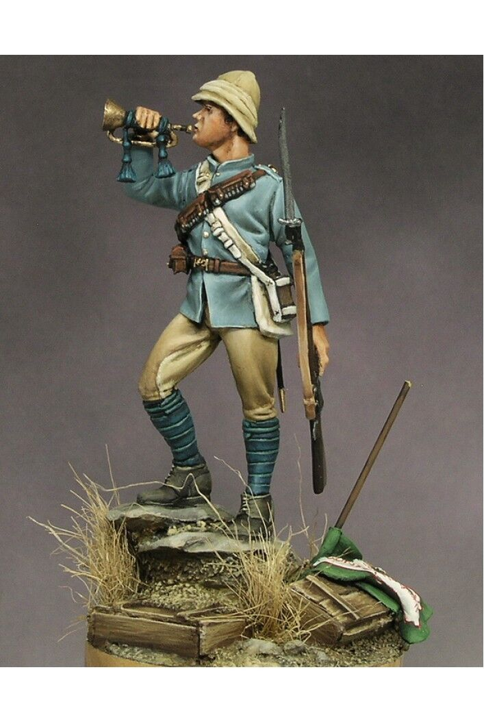English Bugler of Camel Corps at Sudan 54mm 1 32 Tin Painted Toy Soldier   Art