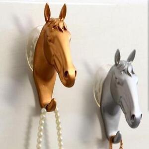 Portable-Animal-Deer-Horse-Head-Hook-Wall-Hanger-Rack-Holder-Resin-Home-Decor-SS