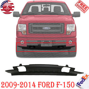 Front Lower Valance Textured With Tow Hook Holes For 2009 2014 Ford F 150 4wd Ebay