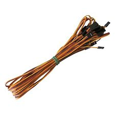 10pcs 1000mm Servo Extension Cord Cable Lead Wire JR Futaba Plug 100cm 26AWG
