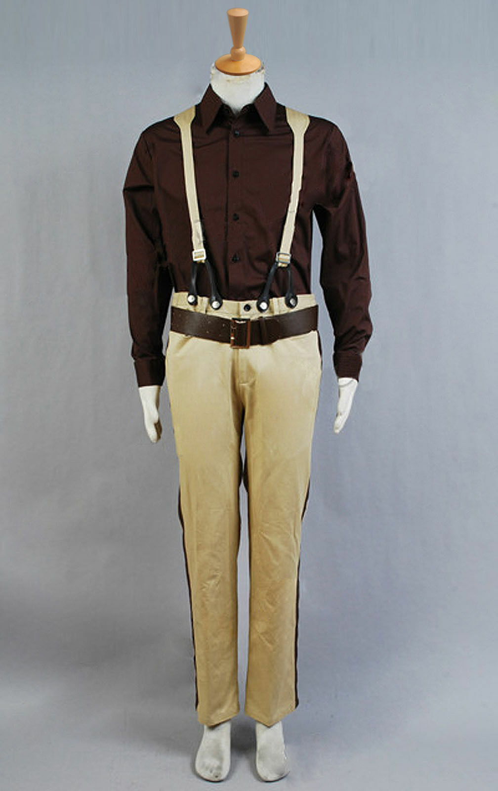 Firefly Serenity Captain Malcolm Reynolds Brown Coat Full Set Costume Cosplay