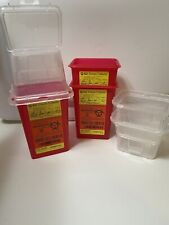 Sharps Needle Collector Container 15 Qt 3 Pack Tall Withlids New Free Ship