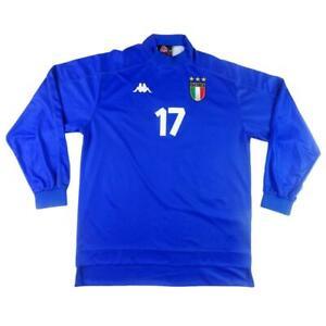 1998-00-ITALIA-MAGLIA-HOME-L-17-SHIRT-MAILLOT-TRIKOT