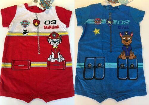 Baby Boys Paw Patrol Romper Bodysuit Jumpsuit Babygrow Playsuit 3-23 months