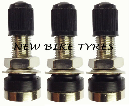 TUBELESS MOUNTAIN BIKE SCHRADER TYRE VALVE BICYCLE X3 MOTORBIKE SCOOTER DUST CAP