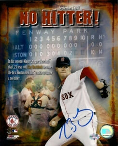 Clay Buchholz Boston Red Sox signed no hitter 8x10 COA