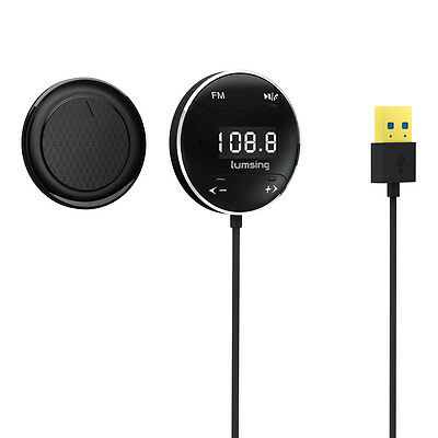 Lumsing FM Transmitter GB01 Hands free Bluetooth Car Kit with LCD Screen