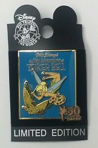 2003-LTD-ED-1-5000-50-years-of-Tinkerbell-1959-Comic-book-cov-Disney-Trading-Pin