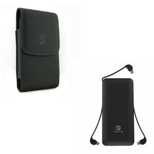 Charger-10000mAh-Power-Bank-Charger-w-Leather-Case-Belt-Clip-R6Z-for-Cell-Phones