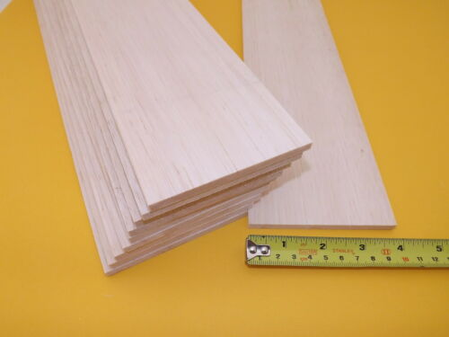 """1//4/"""" x 100mm BALSA WOOD SHEET PACK OF 24-6.4mm 3ft - EXPRESS x 915mm 4/"""""""