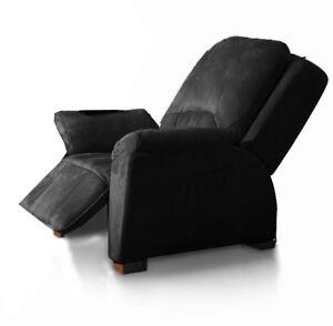 Massagesessel-Rom-schwarz-Fernsehsessel-Relaxsessel-Lagerraeumungsverkauf