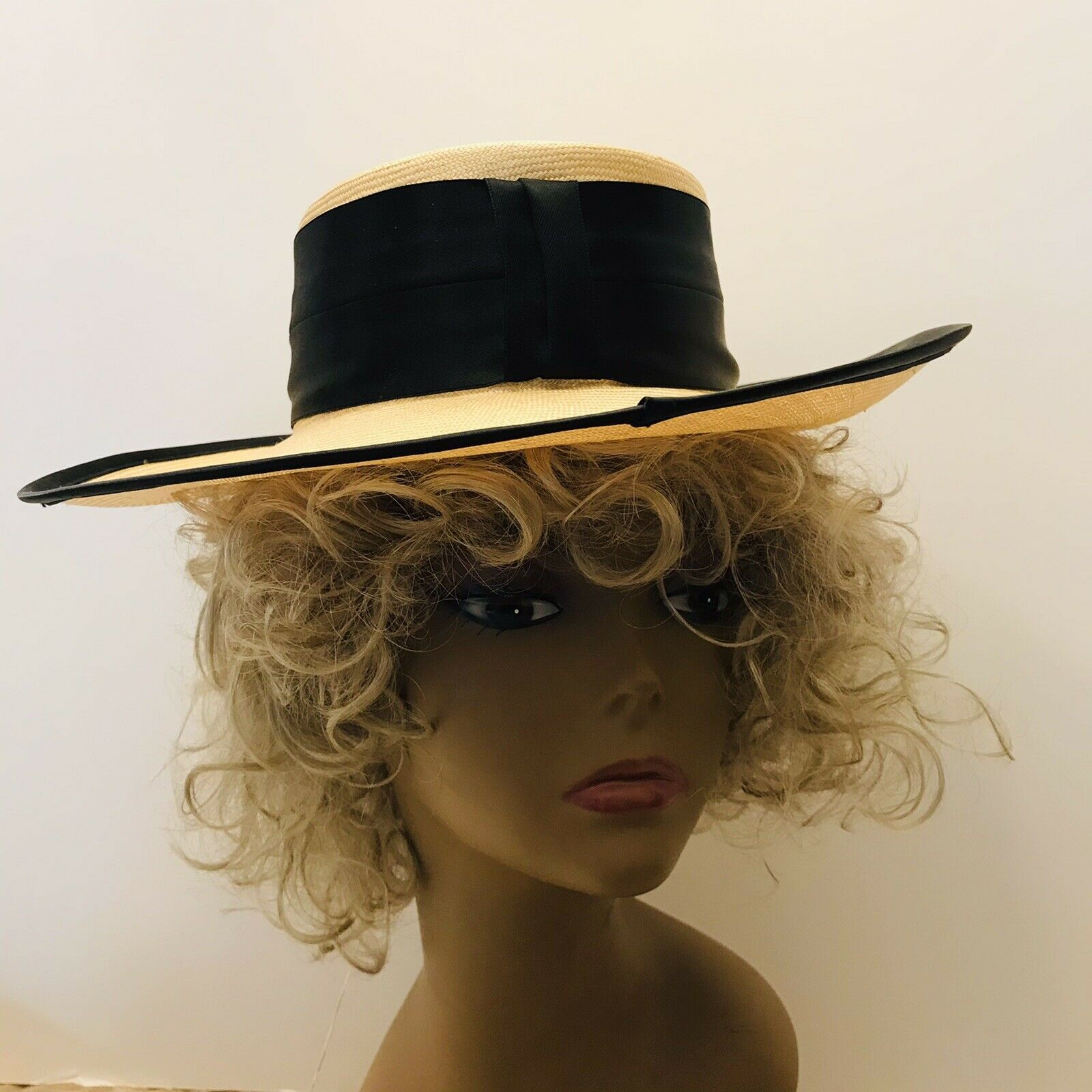 Capo Couture From Austria Vintage Straw Wide Brim… - image 1