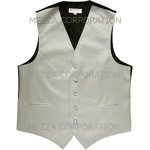 New Men's Vesuvio Napoli Tuxedo Vest Waistcoat only prom wedding party Silver