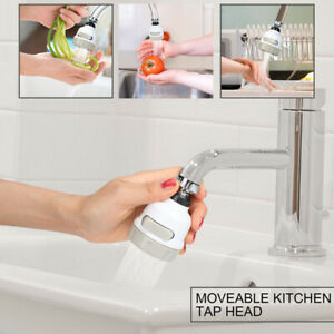 Kitchen Tap Head Aerator 360° Rotate Faucet Swivel Bubbler Extender Water Saving