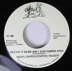 Funk-Unplayed-45-Israel-Popper-Stopper-Tolbert-You-Put-It-On-Me-And-I-Keep-C