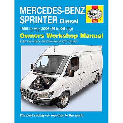 MERCEDES Sprinter Van 2.2 /& 2.9 TD CDI Diesel 1995-2006 Haynes Manuale 4902