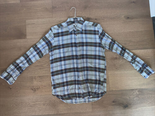 Mens INIS MEAIN Italy Plaid Button Down Dress Shi… - image 1