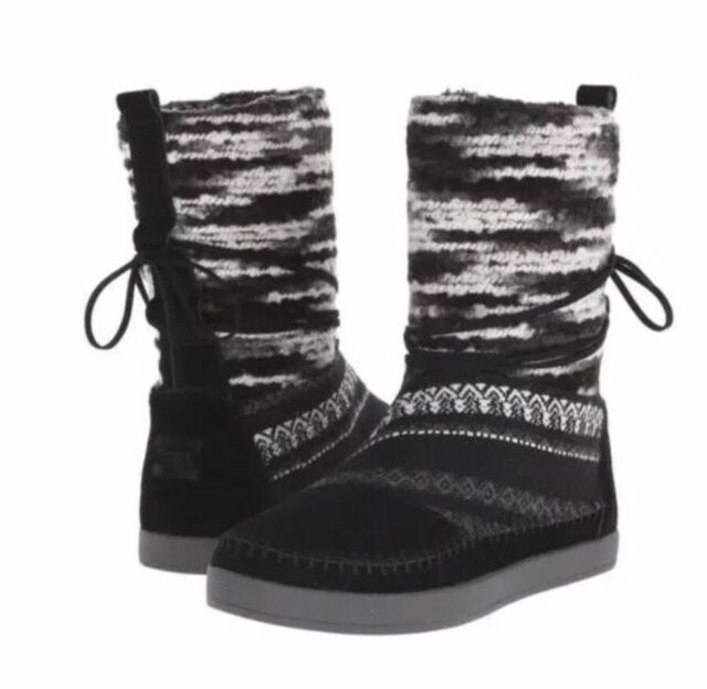 Toms Womens 10 Nepal Boot Black Suede