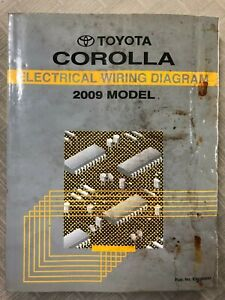 2009 Toyota Corolla Electrical Wiring Diagram Shop Repair ...