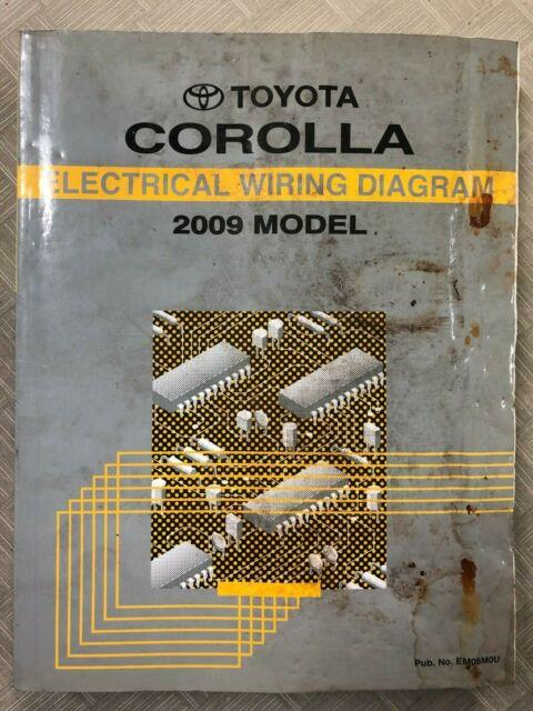 2009 Toyota Corolla Electrical Wiring Diagram Shop Repair Manual Oem Ewd Water