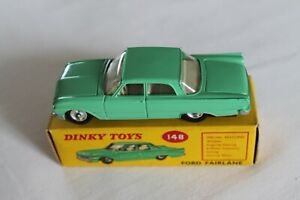 Dinky Toys 148 Ford Fairlane Pea Verde-Gris Interior