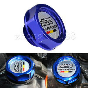 1pc-MUGEN-Engine-Oil-Filler-Tank-Cap-Cover-For-Honda-Civic-Accord-Prelude-blue