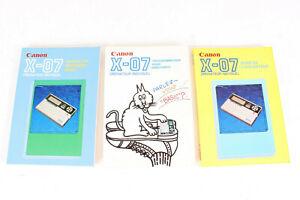 3 manuels pour Ordinateur Calculatrice CANON X-07 - Manuel de reference, guide..