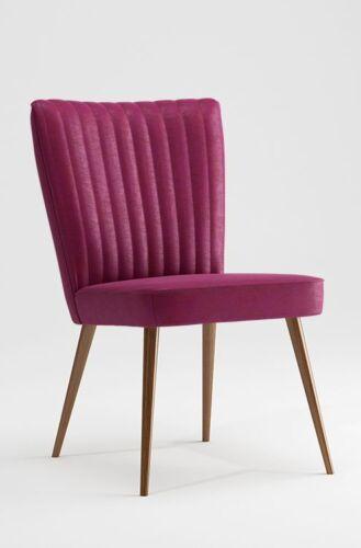 Designer Dining Chair Upholstered Chair Retro Loft Scandi Design Fuchsia variants