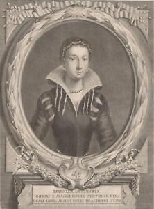 Pietro-Antonio-Pazzi-Isabelle-de-Medicis-Gravure-originale-XVIIIe