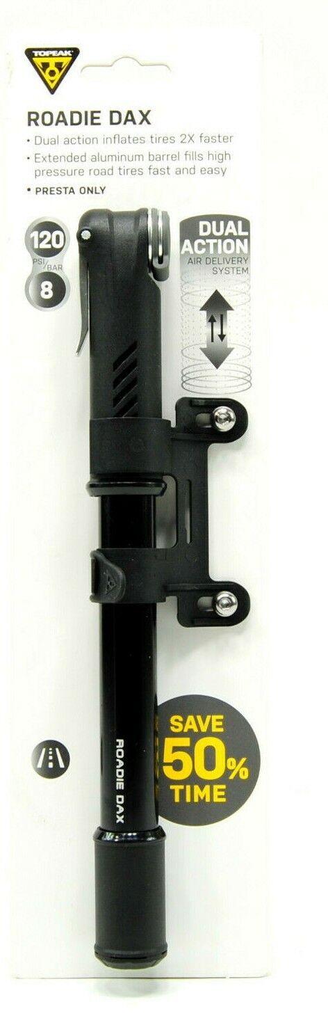 Black Topeak Roadie DA Dual Action Compact Road Pump