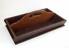 Vintage Antique Wooden Tray Cutlery  Housekeeping Shoes Tools