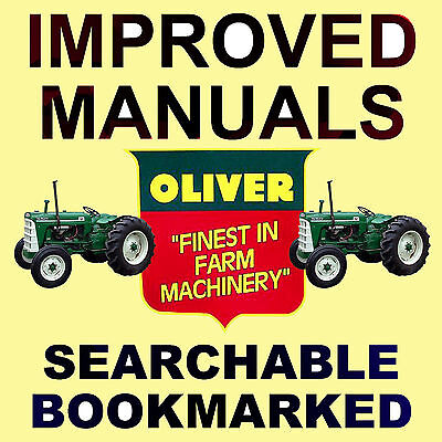 1650 Oliver Tractor Technical Service Shop Repair Manual on CD