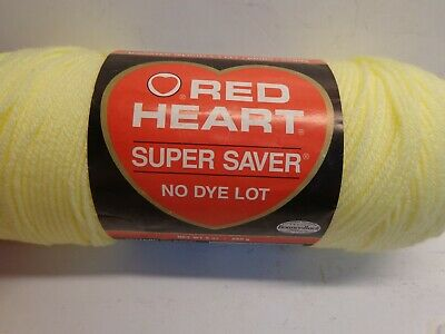 Red Heart E300.0322 Super Saver Yarn Pale Yello