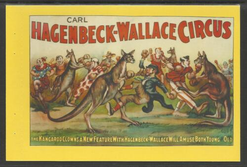 AUSTRALIA 2004 BOXING KANGAROO POSTCARD 20th Century HAGENBACK-WALLACE Poster