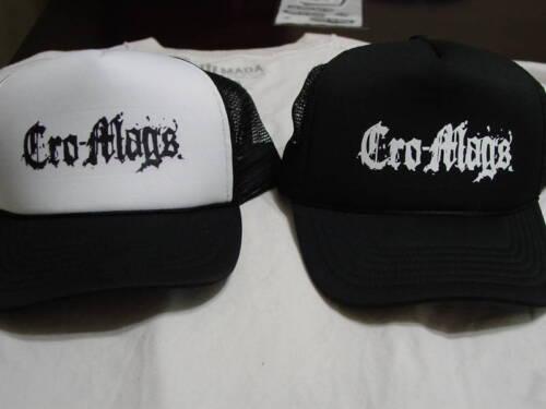 CRO-MAGS Hat Punk Agnostic Front Drapeau Noir Dri Hatebreed badbrains Napalm kbd