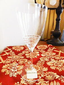 Vera Wang Wedgwood Crystal VERA LACE BOUQUET Iced Beverage Tea Glass (S) - NEW!