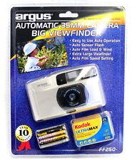 2 Argus Automatic 35mm Camera Big Viewfinder + Kodak Ultramax 400 24 Fresh Film