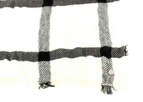 ESPRIT Coll Check Scarf Schal Tuch Halstuch Off White Weiß Streifen Damen Neu