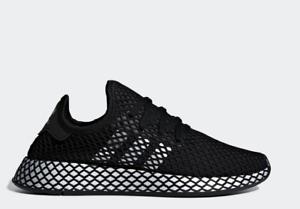 Adidas-Deerupt-Runner-CG6088-Black-Women-039-s-Running-Shoes-Athletic-Sneakers